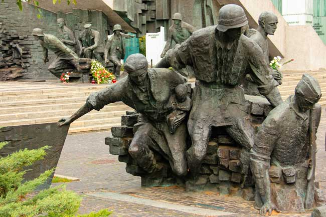In Warsaw you can find a Memorial to commemorate the 1944 Uprising against the Nazi Germany.