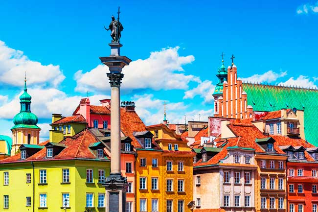 Warsaw Old Town is worth to visit, since it is a UNESCO World Heritage Site.
